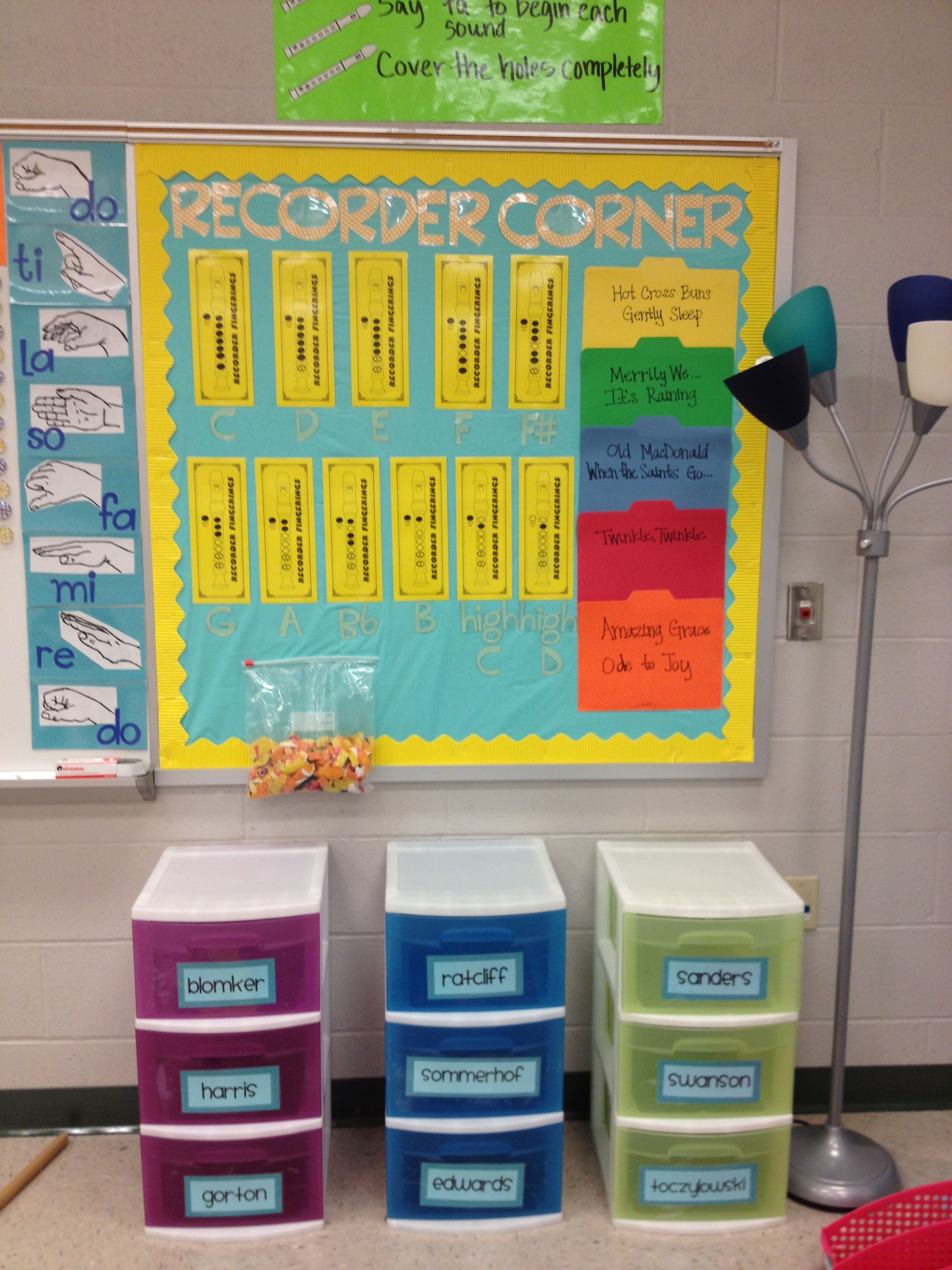 Store Recorders In Plastic Drawers Definitely Doing This For Room Recorder Coming Year Way The Kids Have Somewhere Thats Not Their Locker To Keep