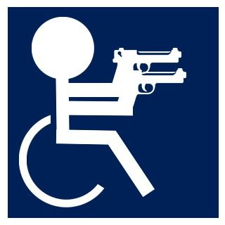 Funny Handicap Sign Emblems For Battlefield 4 Hardline Funny Wheelchair Funny Handicapped Handicap