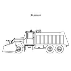 Truck Coloring Pages snø Plow Truck