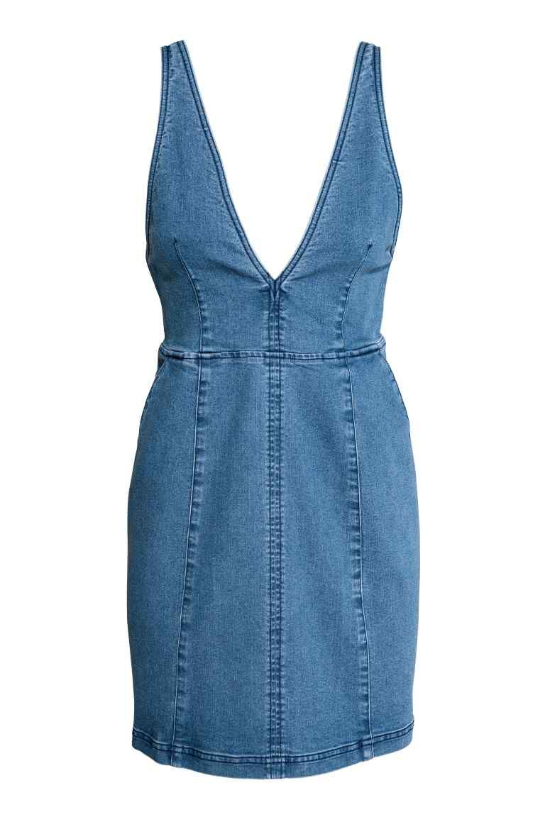 rabais de premier ordre pas cher original à chaud Robe en jean | CASUAL DRESS | Blue denim dress, Necklines ...