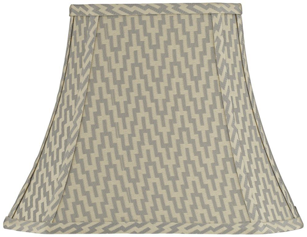 Orillia Gray Rectangle Bell Lamp Shade 5/8x10/14x11 (Spider ...