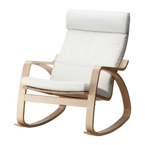 ikea white rocking chair tabouret stacking chairs rocker could make a cover in pebble grey or paint the frame and leave cushion poang