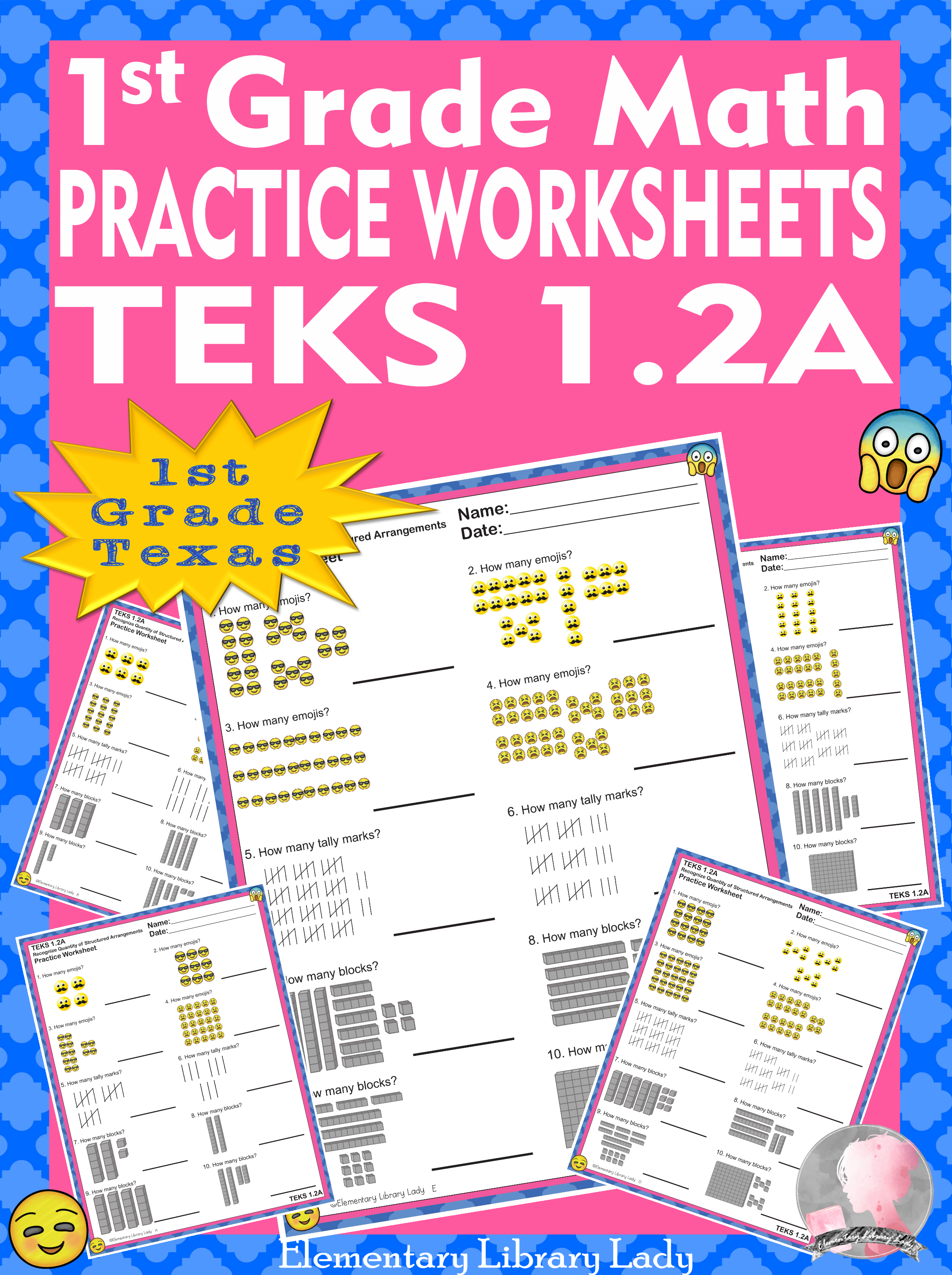 Math TEKS 1.2A Worksheets Texas 1st Grade Structured Arrangements   Math  practice worksheets [ 3131 x 2338 Pixel ]