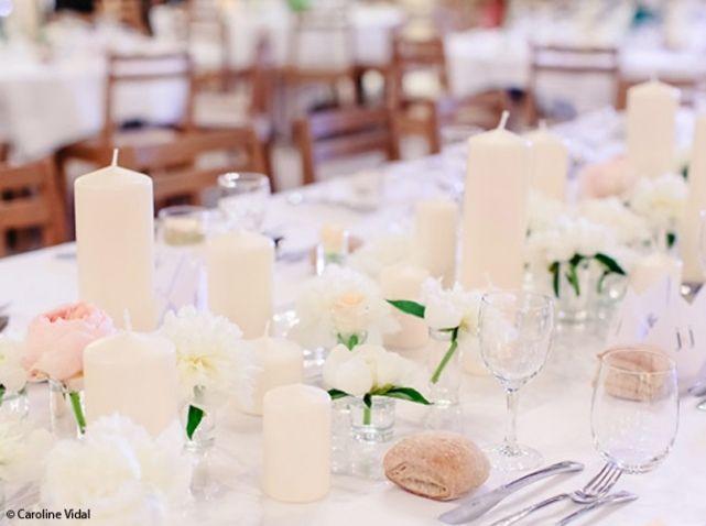 table mariage fleurs idée mariage deco mariage mariage blanc la ...