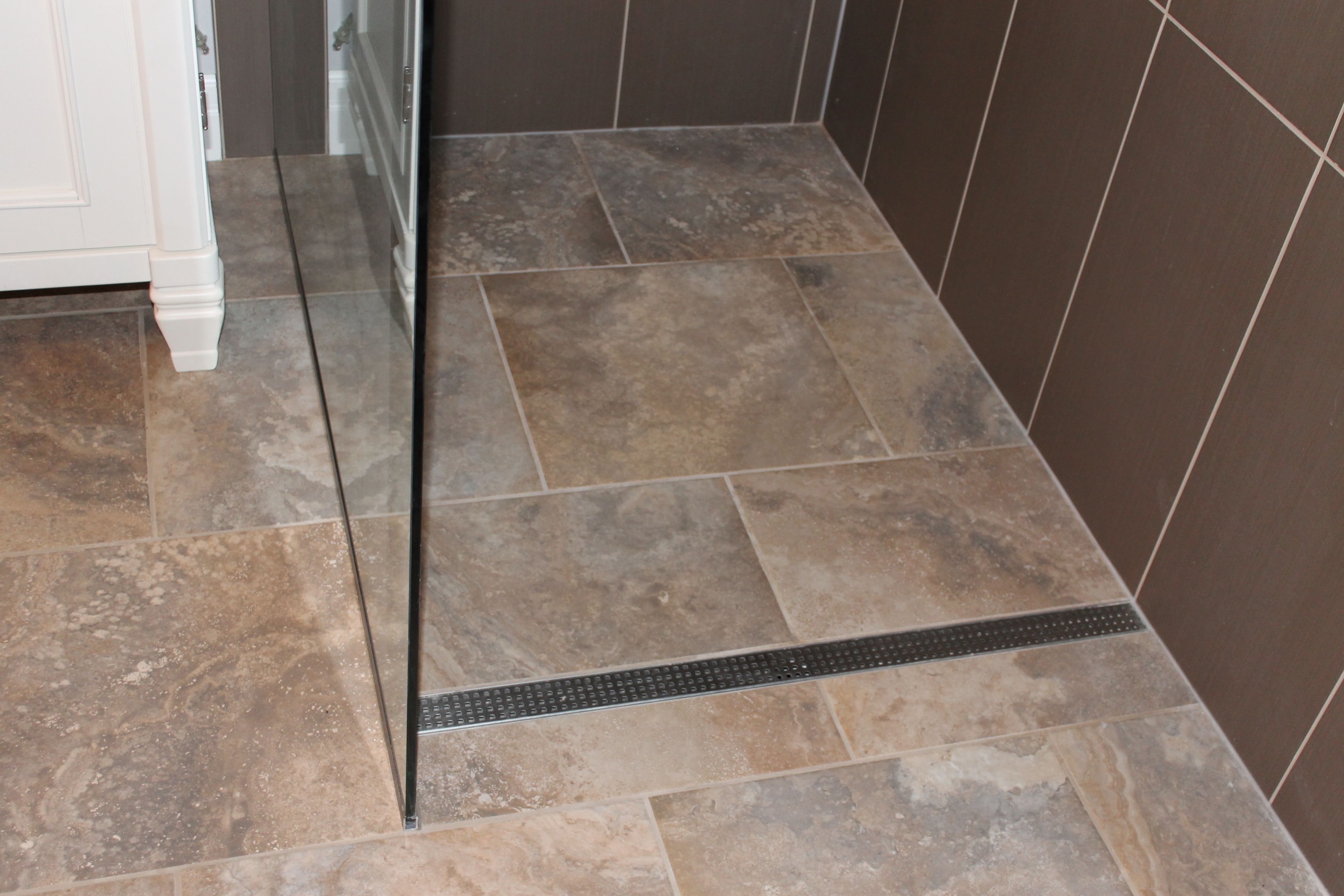 Grate Drain From Stall Shower A