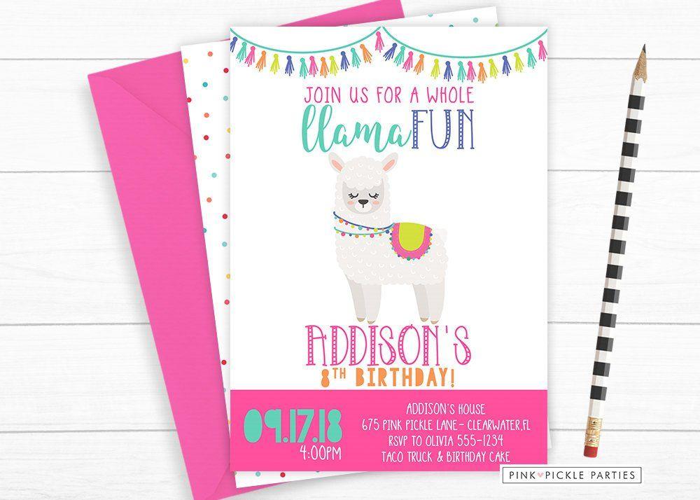 Free Llama Invitation Template Printable Llama Birthday Baby Shower Templates Birthday Printables