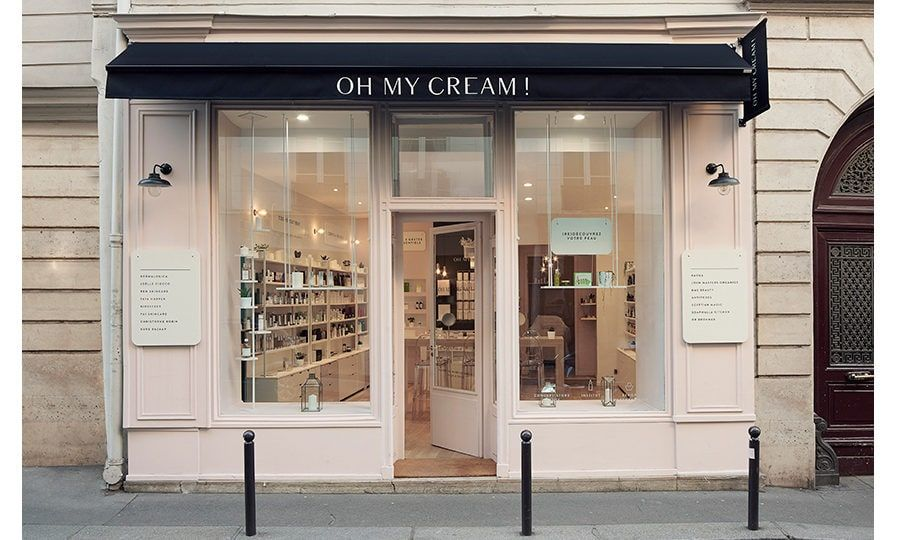 Devanture Oh My Cream Decoration Salon De Beaute Boutique Cosmetique Salon Esthetique
