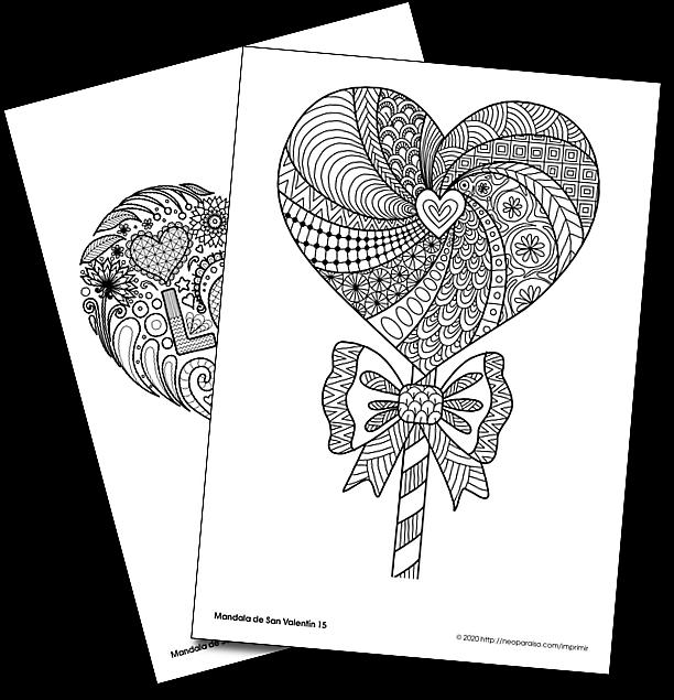 16 Dibujos Alusivo Al Dia De San Valentin Para Imprimir Y Colorear Mandalas De Corazones En Pdf Mandal Mandalas Para Colorear Mandalas Diplomas Para Primaria