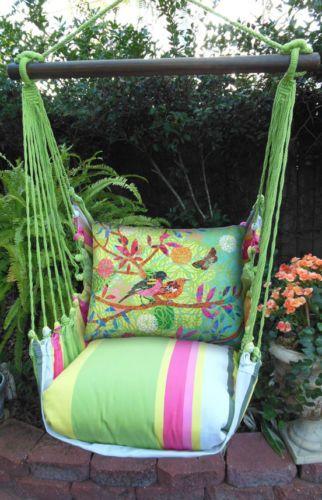 Outdoor Indoor Hammock Swing Chair W Tote Dorm Kids Room Patio   EBay