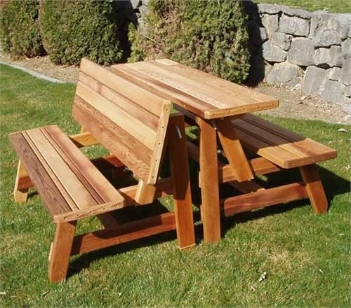 Herman Convertible Bench Table 2pcs Picnic Table Bench Table Picnic Table Bench