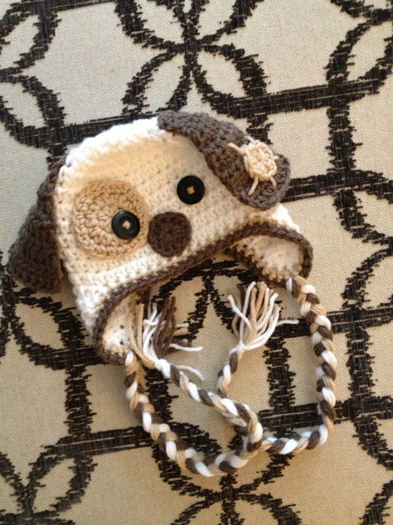 Dog Puppy Earflap Crochet Baby Newborn Beanie Hat Photo Prop ...