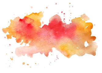 Vector Watercolor Abstract Hand Painted Background Salpicadura