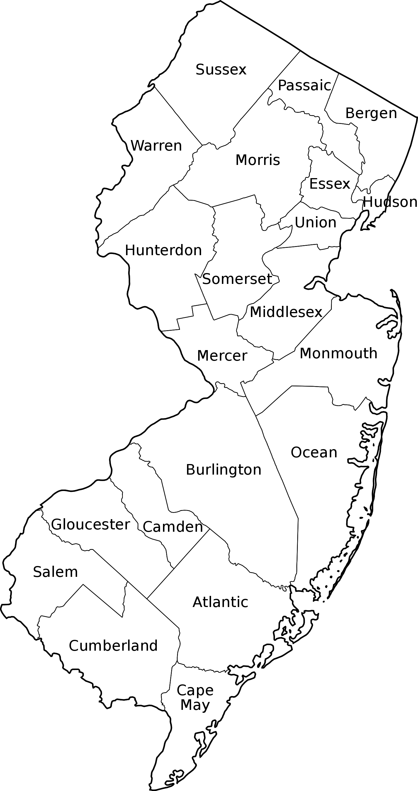 Map Of New Jersey Counties Google Search Map Skills - Map of us with west highlighted transparent