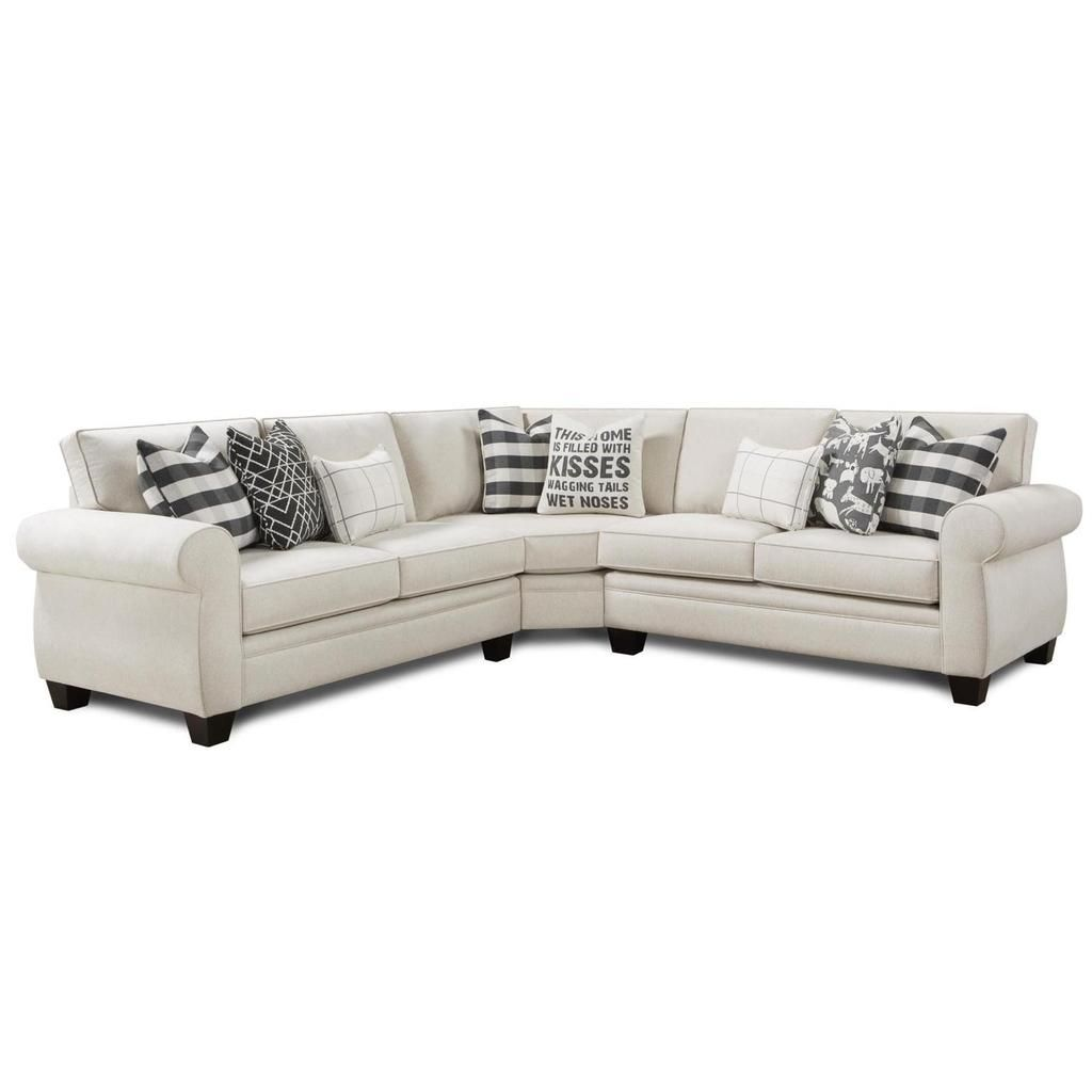 Popstitch Shell 3 Piece Sectional By Fusion Furniture Inc | Barrow Fine  Furniture