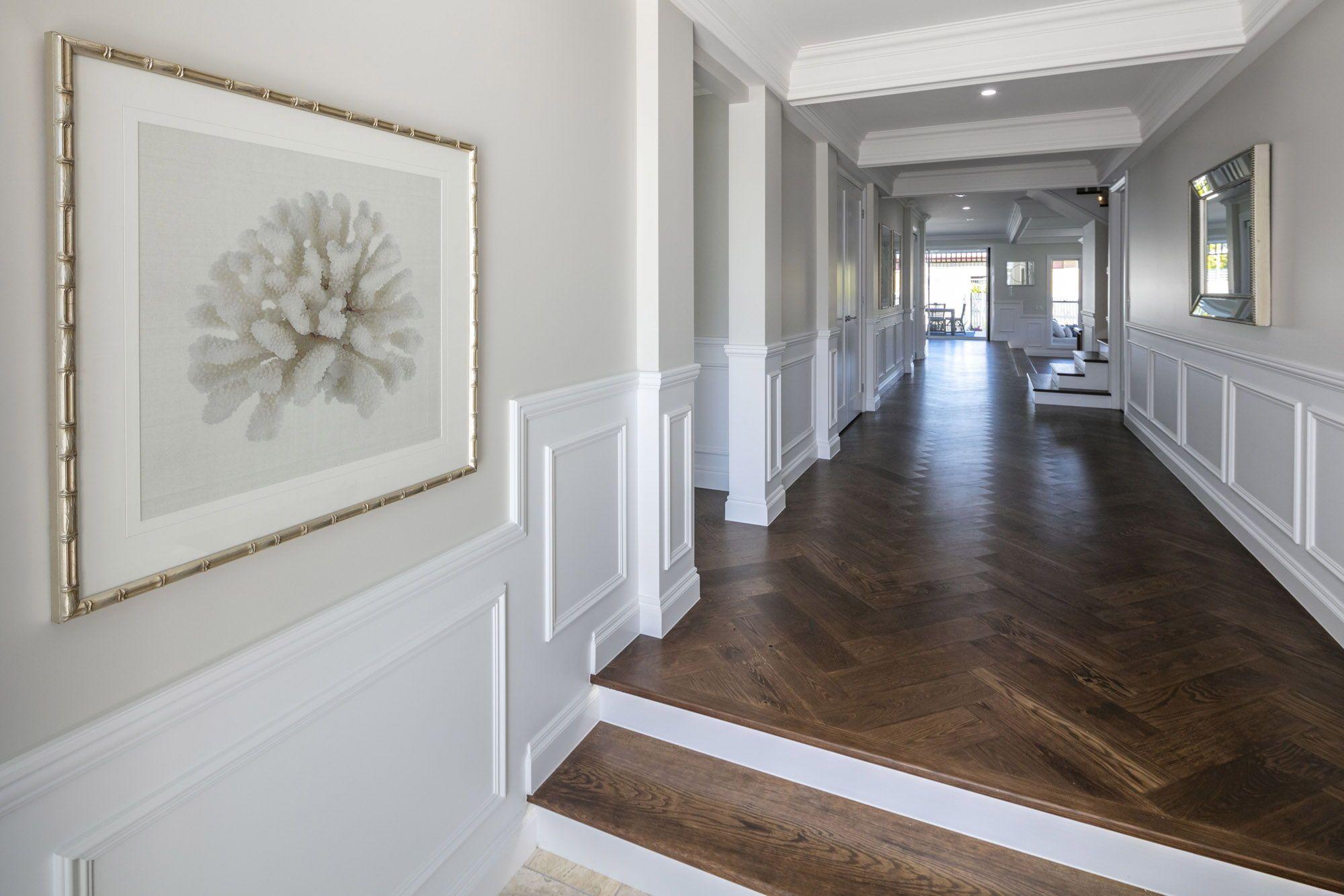 Sunken Floors Natural Timber Neutral Colours Wainscoting An