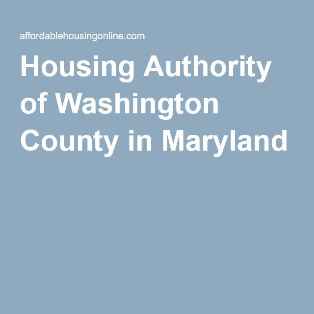 Housing Authority Of Washington County Hagerstown Maryland Washington County Maryland Washington