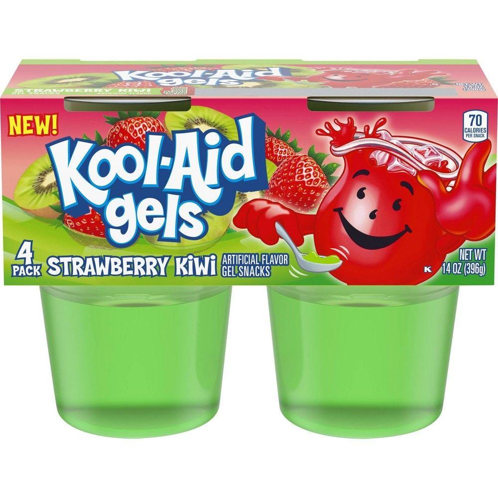 Kool Aid Strawberry Kiwi Gelatins 4pk 13 5oz Strawberry Kiwi Kool Aid Kool Aid Flavors