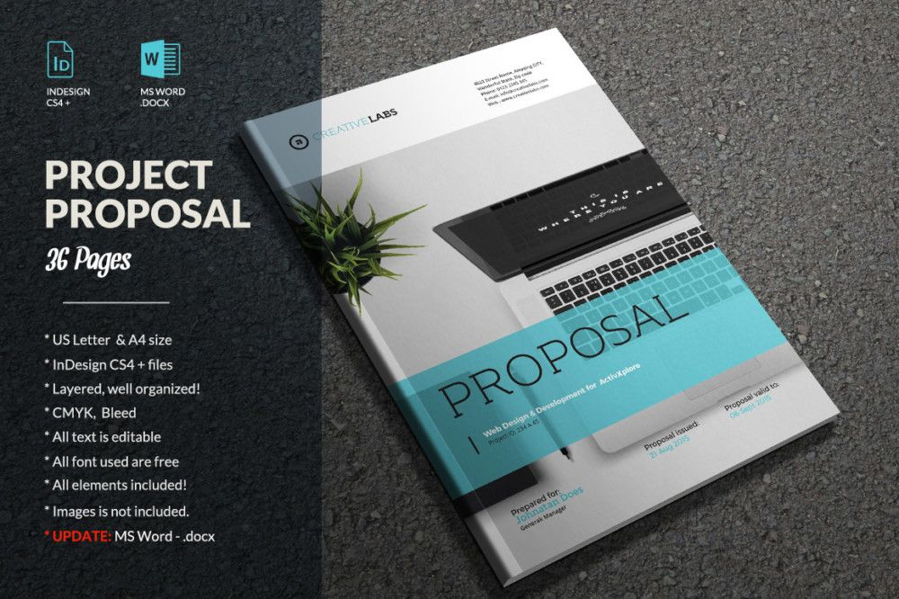 Indesign And Ms Word Brochure Template Brochure Template Word