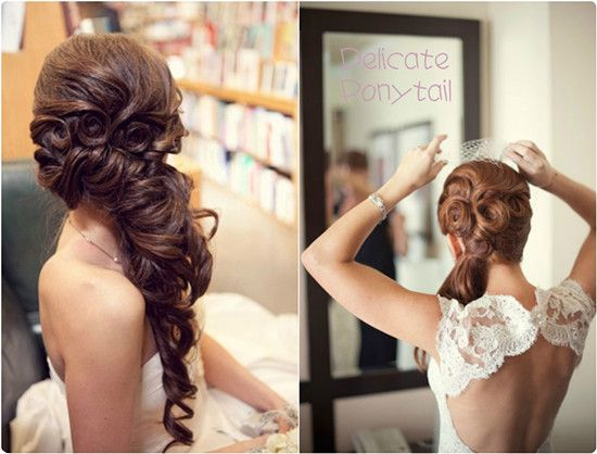 7 glamorous hairstyles for bridesmaids 2013 human hair delicate ponytail hairstyle with human hair extensions clip in pmusecretfo Choice Image