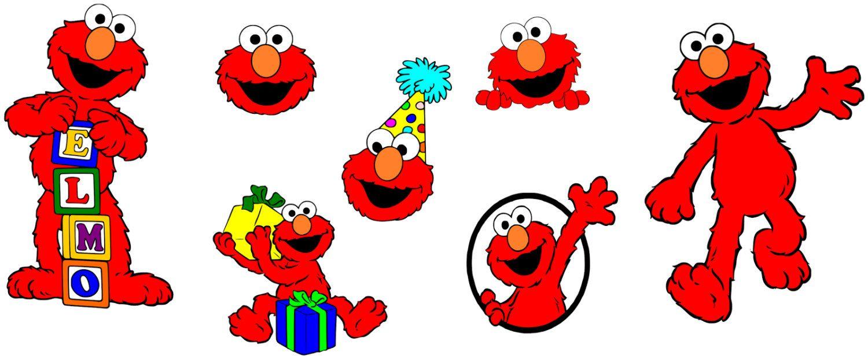 Sesame Street Elmo SVG, INSTANT Download, Printable Decals