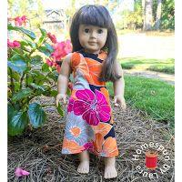 Homespun by Laura: Doll Refashion: Maxi Dress from a Shirt Sleeve