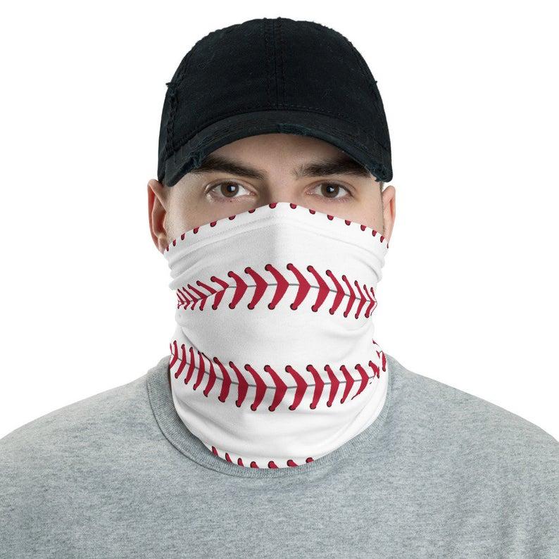 Baseball Face mask, Neck gaiter baseball allover print