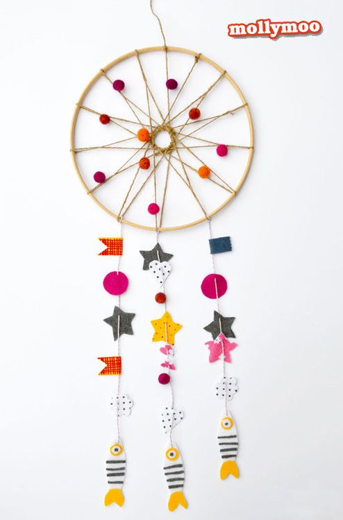 Dream Catchers With Beads Woolen Beads Dream Catcher Crafts tips and DIY Pinterest 37