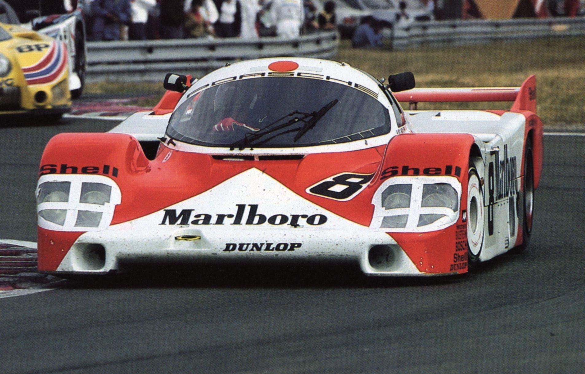 Le Mans 1983. Porsche 956, Chassis 104, SORGA S.A. Das Fahrzeug wurde mit Ludwig/ Johannson/Wollek am Steuer Gesamtsechster.