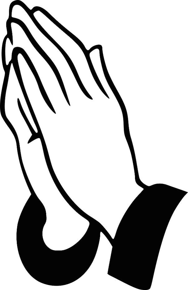 Praying Hands Coloring Page Free Template Or