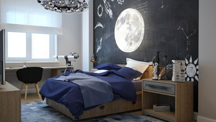 lmpara luna en la habitacin del nio - Pintar Habitacion
