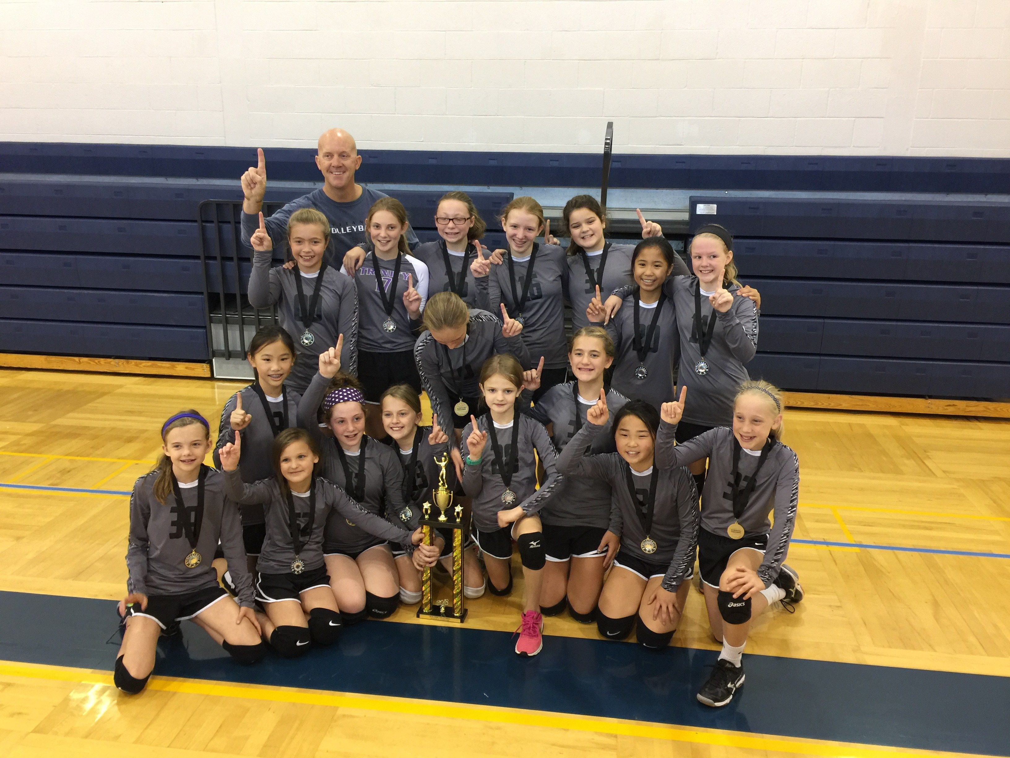 Middle School Volleyball Champs Volleyball Volleyball Team Middle School