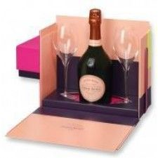 Laurent Perrier Cuvee Rose Brut with 2 Flutes 750ml