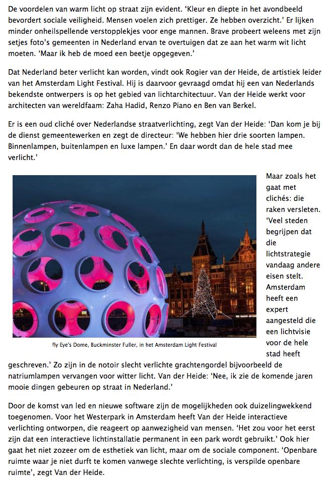 Motivatie toegevoegde waarde van verlichting in openbare ruimte ...