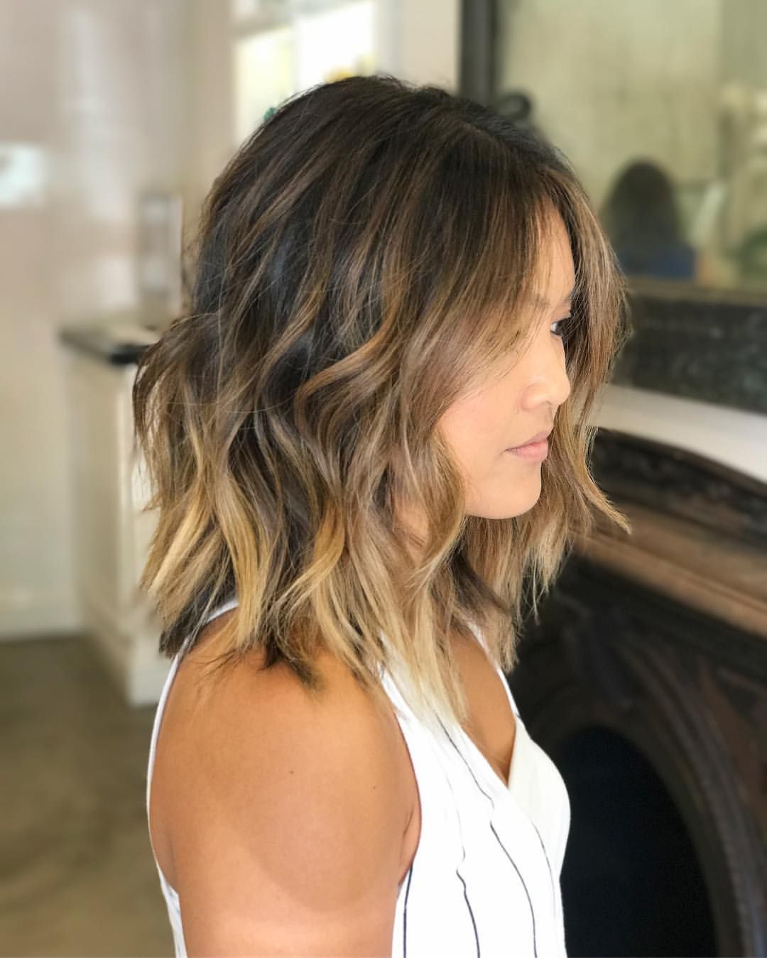 Asian Balayage Hair Ideas You Will Love  Wavy bobs  Pinterest