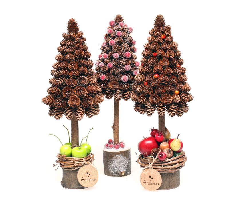 Choinki Z Szyszek Cone Christmas Trees Pine Cone Decorations Christmas Art