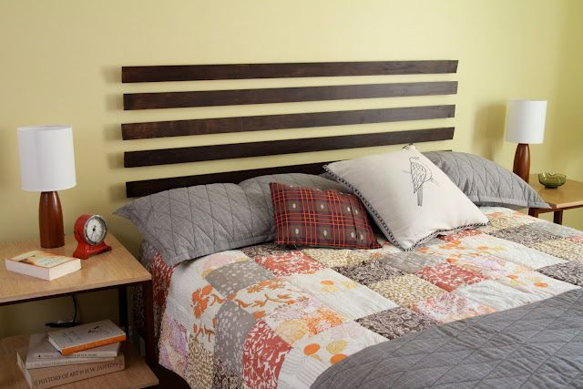 Floating Headboard Diy Was Pretty Simple To Do Used 1x4 Instead Of Lattice And Hung With Brackets Instead Easy Home Decor Floating Headboard Simple Headboard