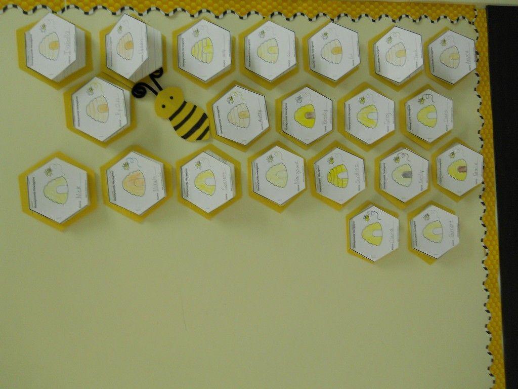 Honeycomb Bee Writing