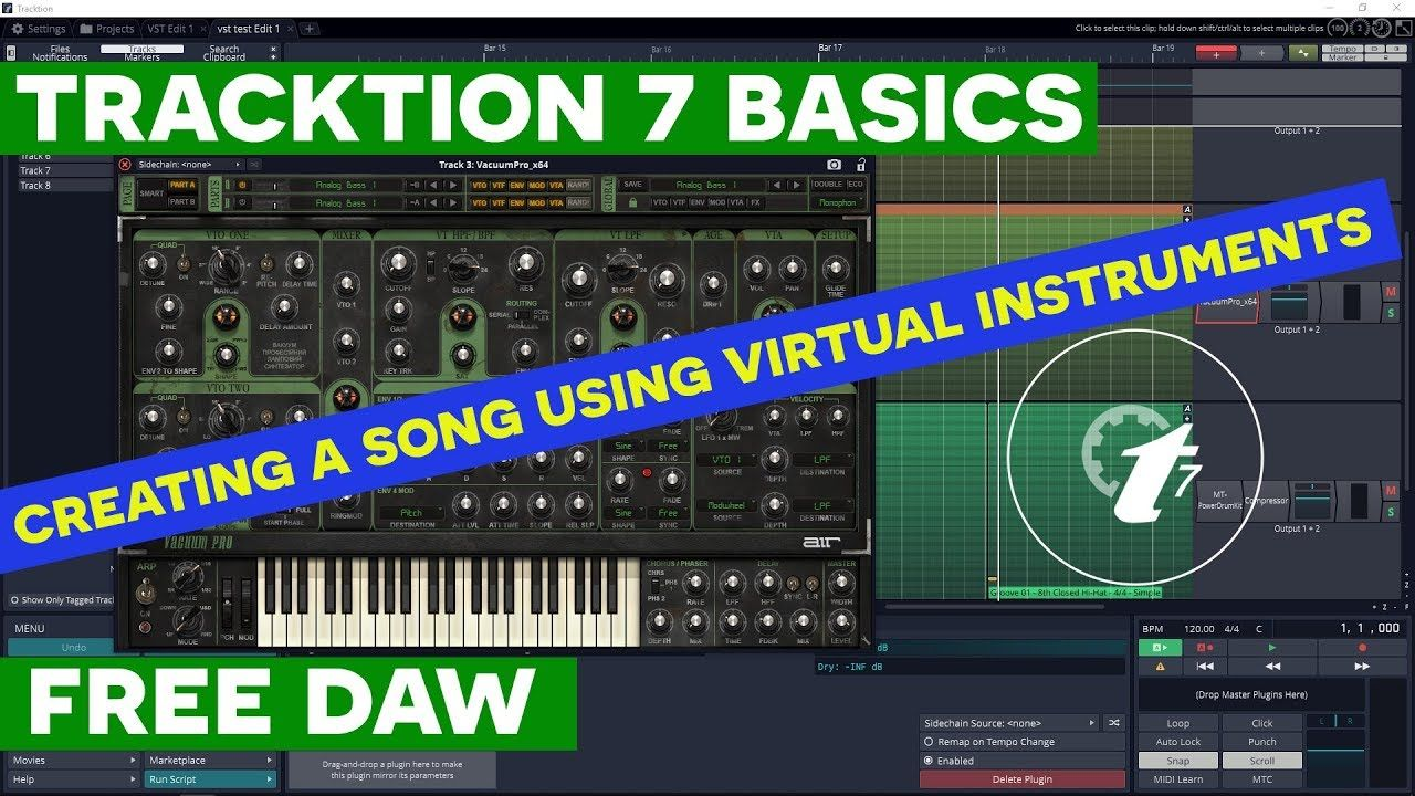 Tracktion 7 Tutorial Creating A Song Using Only Virtual Instruments In T7 Songs Music Virtual