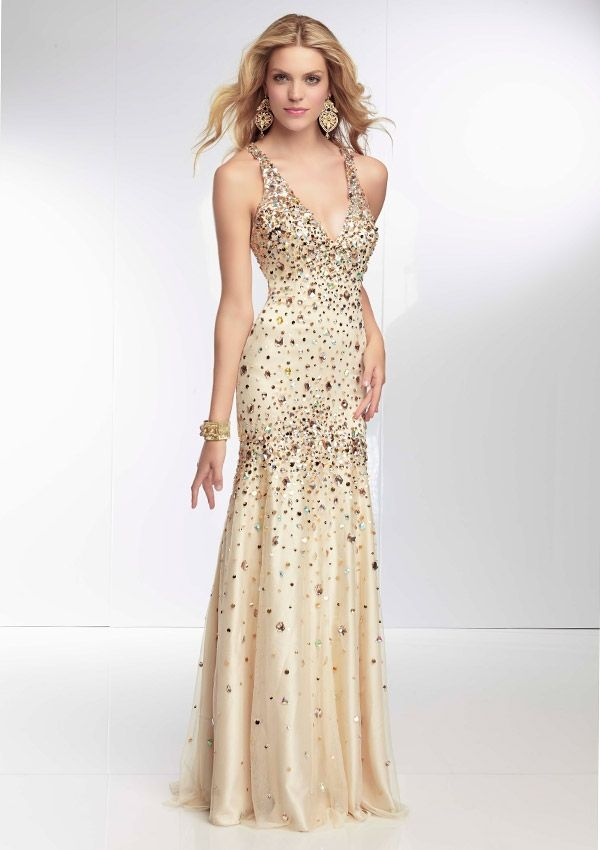 Beaded Champagne Gowns