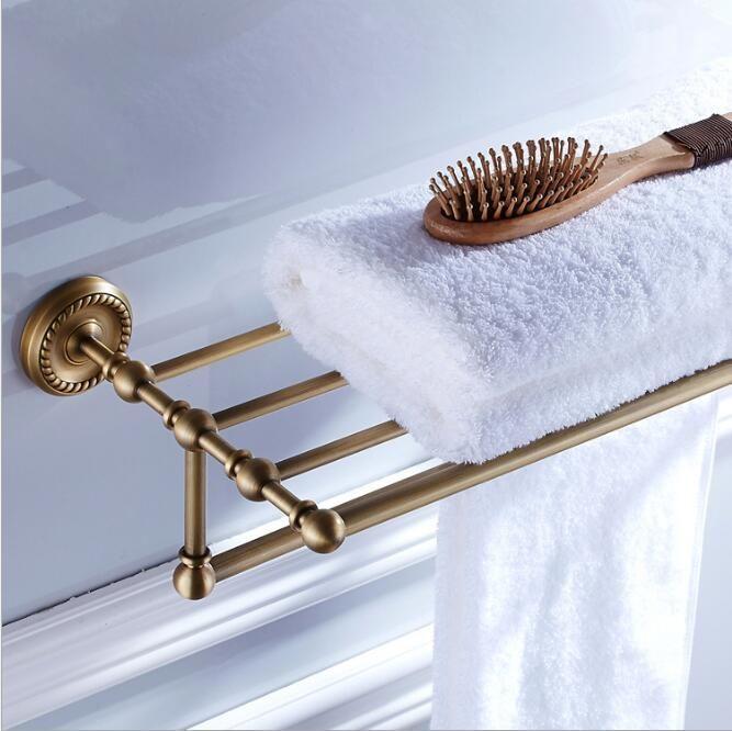 antique fixed bath towel holder wall mounted towel rack 60 cm towel shelf bathroom accessories luxury
