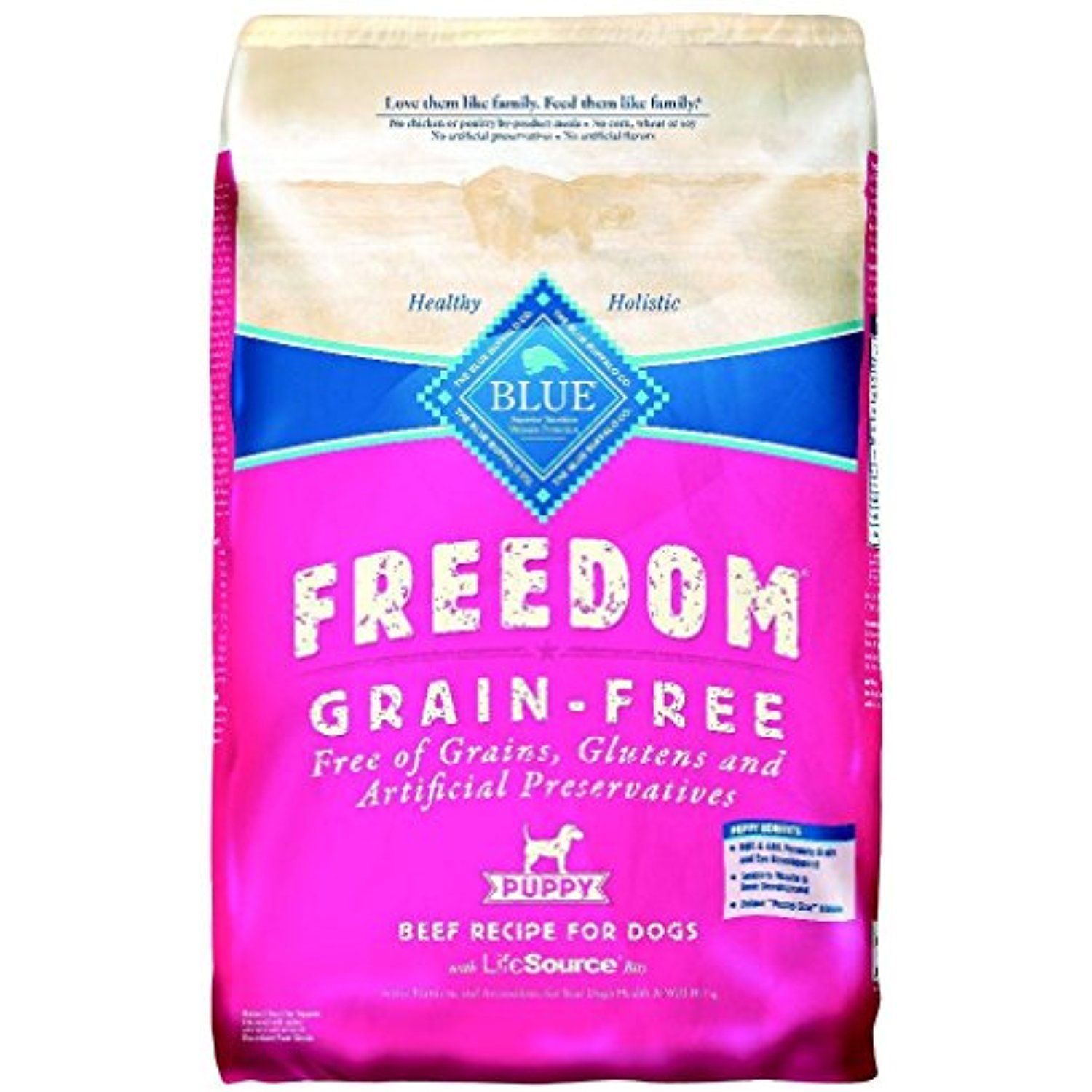 Blue Buffalo Blue Freedom Pup Beef Grain Free Bag 11 Lb You Can Read More Reviews Of The Product By Vi Dog Food Recipes Dry Dog Food Free Chicken Recipes