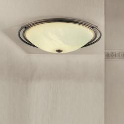 Photo of Lam Classic ceiling light – burnished – alabaster glass – borders 40 cm 2x 60 watts, 40.00 cm 69