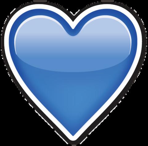 Blue Heart Blue Heart Emoji Heart Emoji Blue Heart