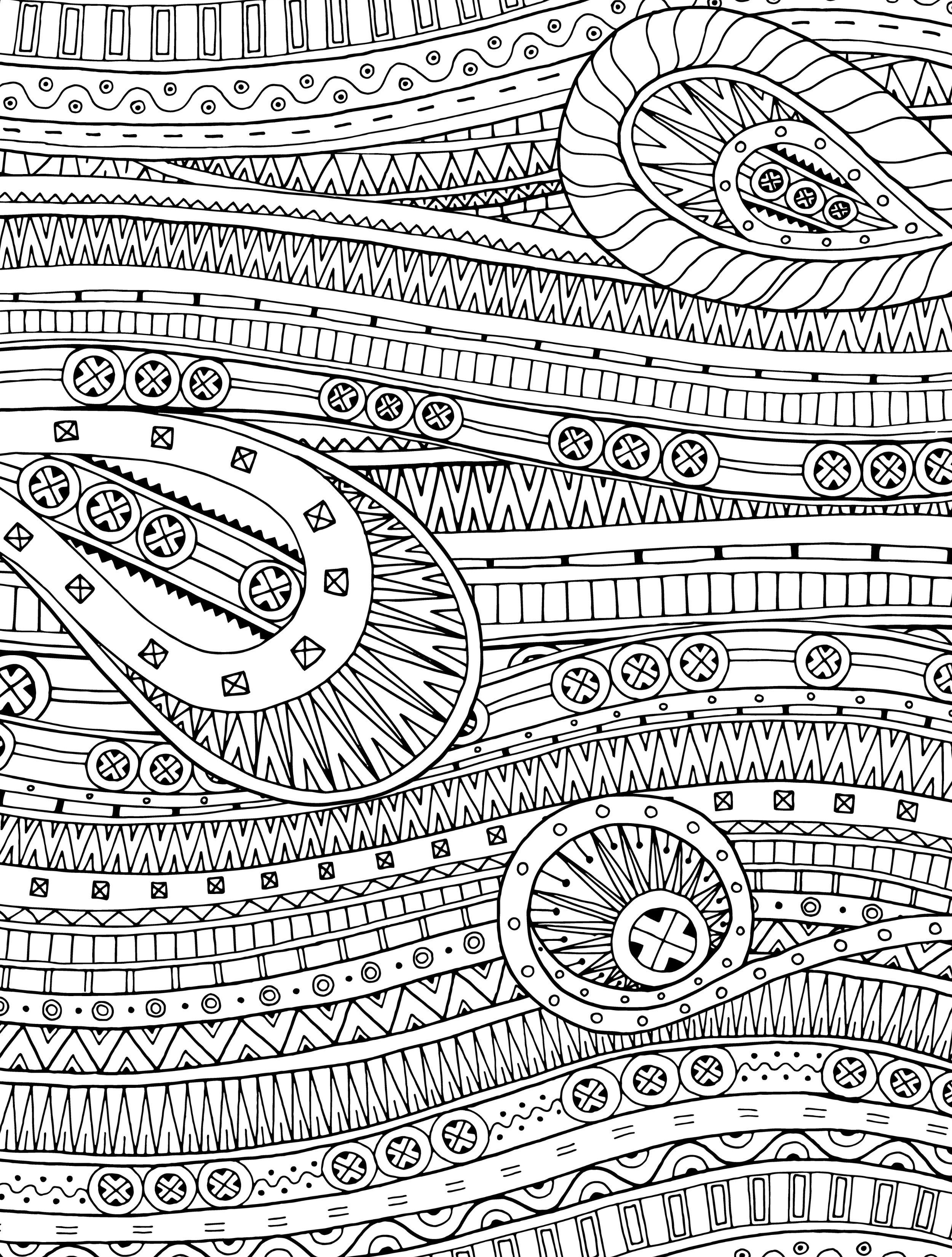 Beau 15 CRAZY Busy Coloring Pages For Adults