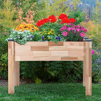 CedarCraft 49 In. X 34 In. X 30 In. Elevated Garden Planter