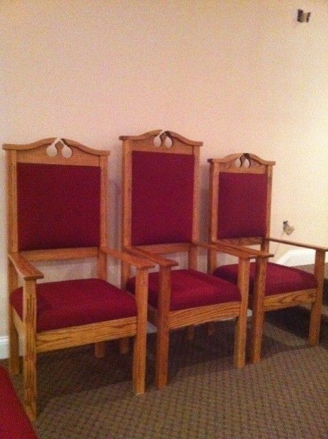 Custom Built Clergy Chairs Born Again Pews Church Furniture