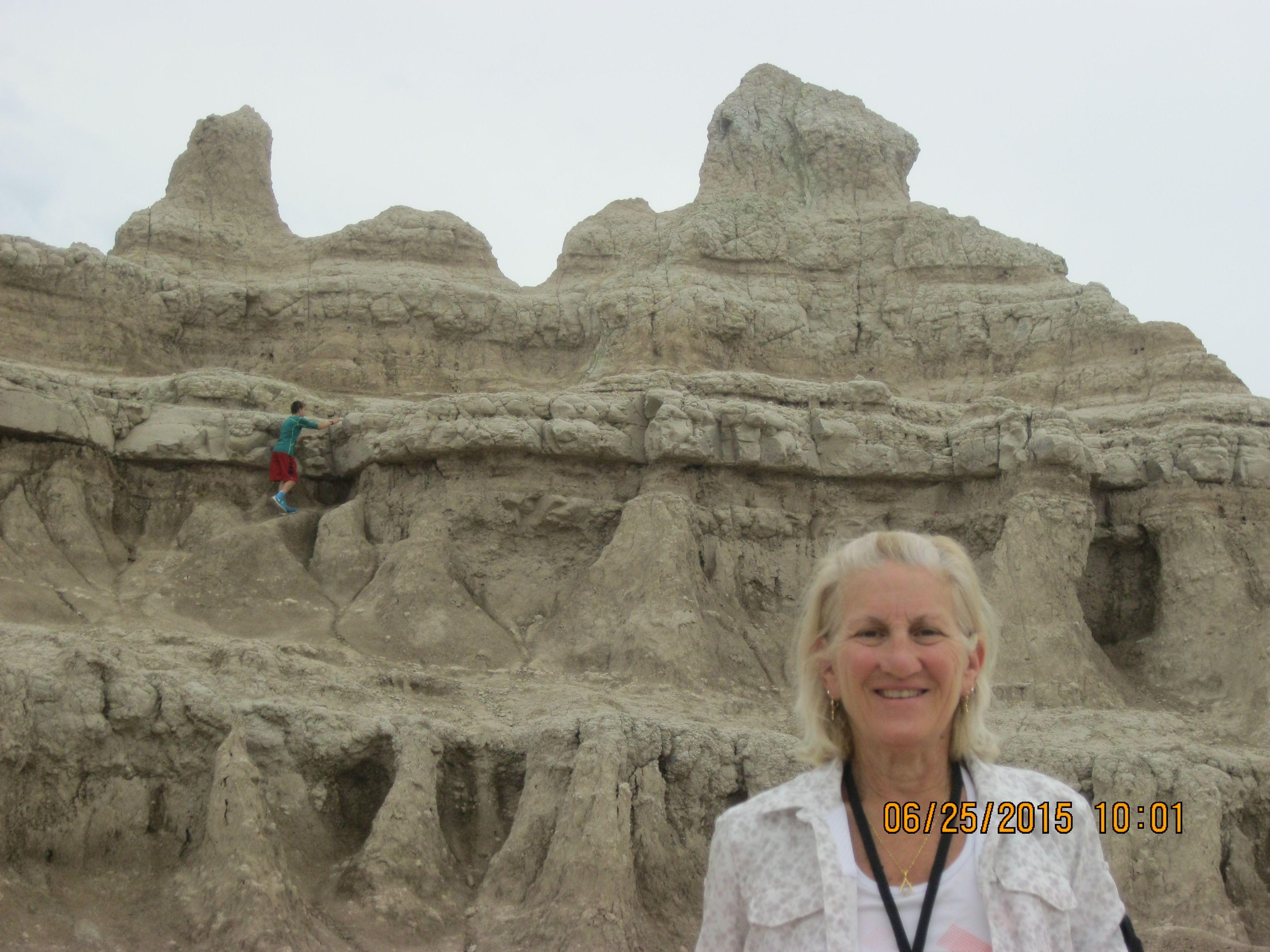 Vista desde el Camino de Windows en el Parque Nacional Badlands en Dakota del S.