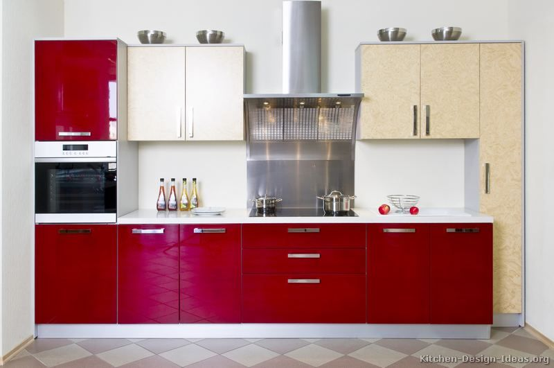 17 Best images about Red Kitchens on Pinterest | Modern kitchen ...