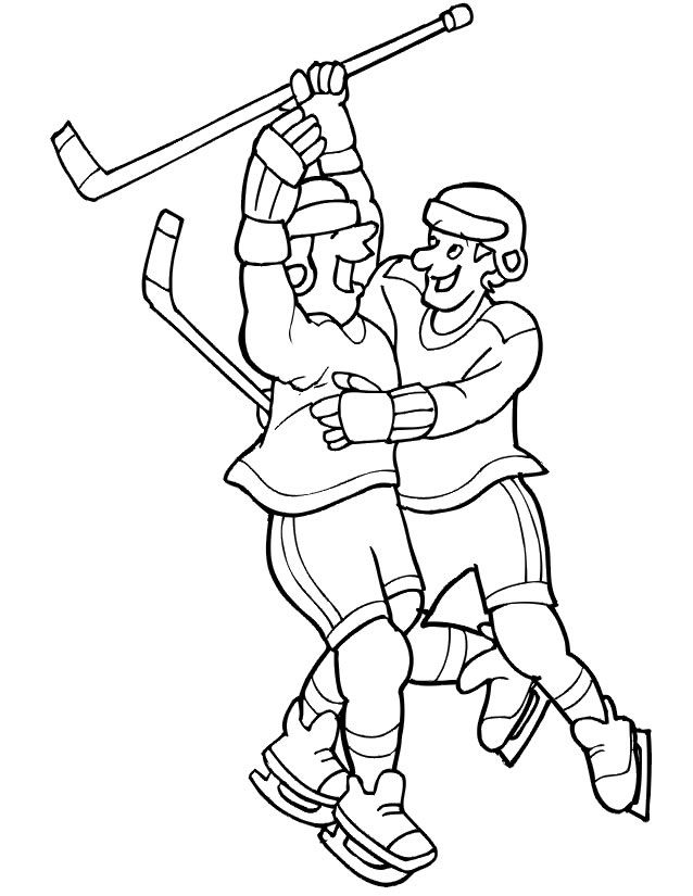 Coloriage Hockey.Coloriage Hockey A Imprimer Gratuitement Coloriage Hockey