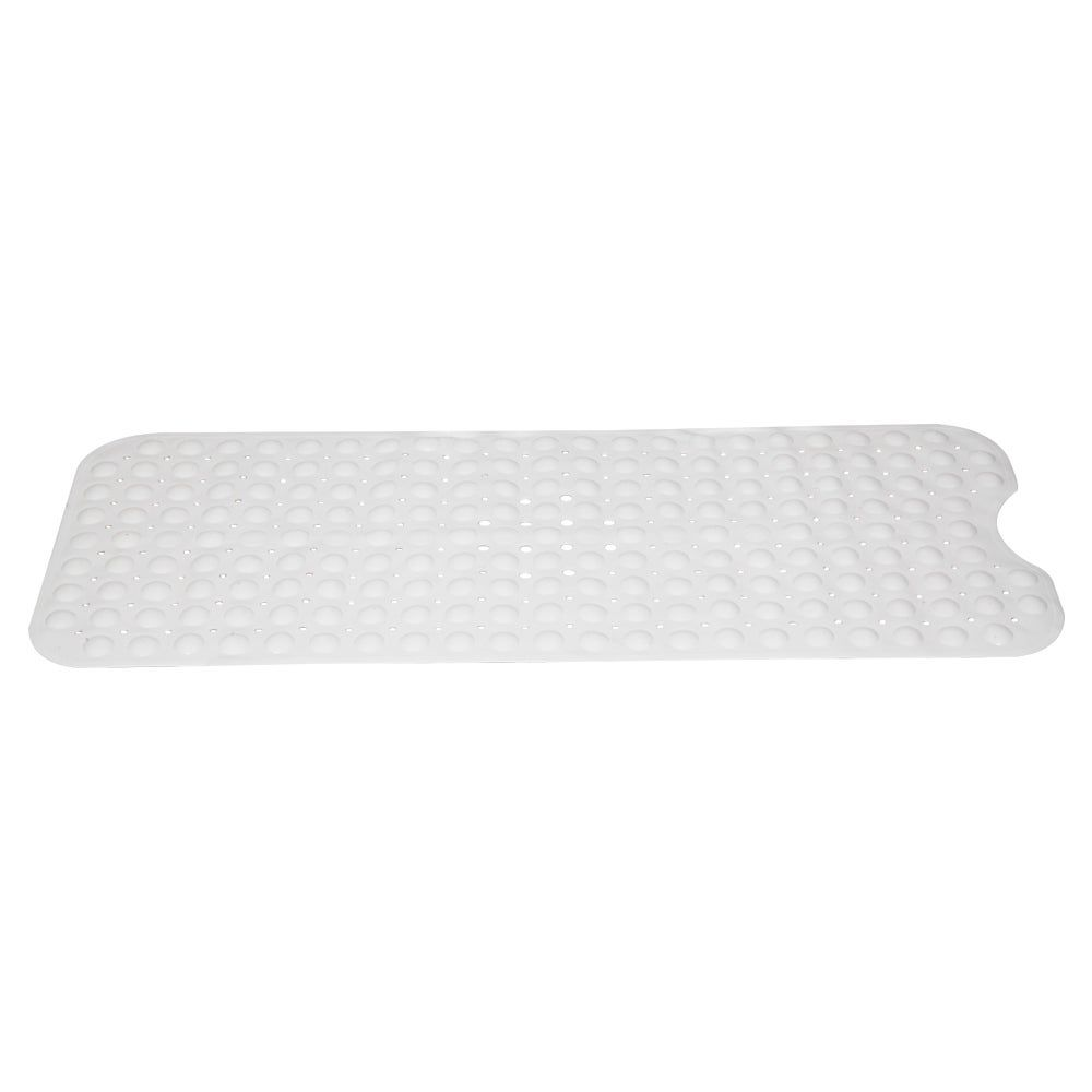 Non Slip Bathtub Mat Shower Mats With Drain Holes White